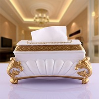 Fashion resin      pumping  lace  car    bathroom set fashion luxury tissue box holder wedding gift