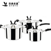 New ( 3 pieces/lot) Multi-layer steamer set soup pot sauceboxes cooking pots and pans