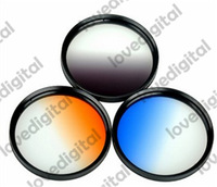 52mm Graduated Neutral Density Grey Blue Orange ND Filter Kit For Nikon Canon  camera lens