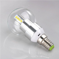 85-265V E14/E27  3W Golden/Sliver Light bulbs,milk/clear shell,led bulb 12 pcs samsung 2835 LED chip