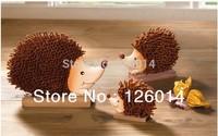 2014 New European Style Cute  Hedgehog Ornaments Suit Children Real Store Decoration Large Trumpet