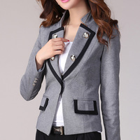 Female blazer outerwear long-sleeve 2013 autumn women's spring and autumn slim suit medium-long suit