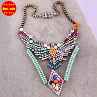 Fashion Statement Shourouk Choker Necklace Colorful luxury Eagle rhinestone shourouk statement necklace for women 2013