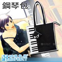 Princess sweet lolita bag Black piano bag with music note coin case anime Nodame cantabile Canvas shoulder bag shopping school
