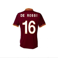 New 13-14 AS ROMA home #16 DE ROSSI Jerseys RED Shirt Soccer Unforms 2013-2014 Cheap Soccer Jersey free shipping