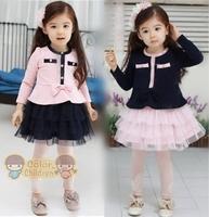 RETAIL 2014 New autumn Baby Girl Lovely tutu Dress long sleeve fashion dresses, dresses for girls ,Lace princess dress