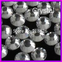 SS6 1.9-2mm,1440pcs/Bag white Clear Crystal DMC HotFix FlatBack Rhinestones,DIY iron-on hot fix crystals stones