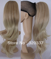 Free Shipping Women's Claw on Ponytail Hair Extensions Highlight Wavy Ponytail Extensions for Women Synthetic Hair #K26TK88