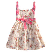 FREE SHIPPING H2666# 12m/5y 2013 hot selling Nova kids clothing printed butterfly sleeveless baby girls' dresses