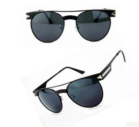 Free Shipping~ Mirror Sunglasses Mens Brand Retro Silver Mirror Reflect Alloy Sunglasses For Women Shades  1pc/lot MT031