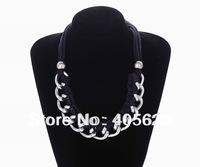 Fashion weaved mixed chain choker necklace