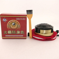 Green spiral portable cauterize copper moxibustion box querysystem utensils moxa roll column moxa