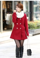 South Korean style High quality hot sale Double-breasted without collar design Sexy women leisure woolen cloth coat