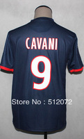 #9 Edinson Cavani Kids Youth Authentic Thailand Home Navy 2013-14 Season Soccer Jersey (Set with Short)