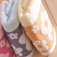 2pcs/lot  33*70cm Free Shipping! Orginal order Brand New 100% Cotton face bath towels sunflower pattern face towel M006
