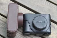 Black Leather Camera Hard Case Bag Cover For Fujifilm Fuji X10 X20 Finepix