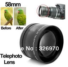 2X 58mm Professional Telephoto Lens for Canon 350D 400D 450D 500D 1000D 550D 600D 1100D (China (Mainland))