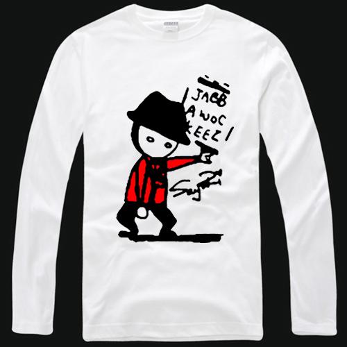 Camisa máscara de manga comprida T-shirt jabbawockeez roupas hiphop dos homens(China (Mainland))