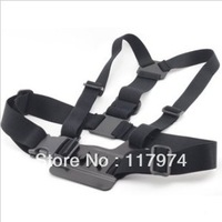 Action Camera Adjustable GoPro Chest Mount Harness Chesty Strap For GoPro HD Hero, Hero2, Hero3, Free Shipping  P0084