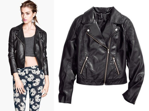 Womens Faux Leather Jacket Black
