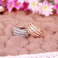 2014 New Arrived Fashion Luxury Multi-layer Drill Rhinestone Wide Ring R694 R695