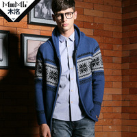 Wood 2012 winter new arrival fashion sweater cardigan classic male wool sweater v079