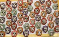 Fashion Jewelry Facile Design Alloy rhinestone king lion multicolour women's ring 50 pcs/set  Wholesale Free Shipping