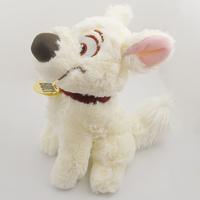 Funny! Cute!  1 x Little White Bolt Puppy Dog Pet 9.6'' Soft Plush Stuffed Toy!  Free Shipping!