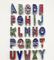 260pcs 8mm A-Z single color rhinestone Slide letters