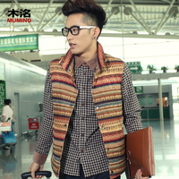 Wood 2012 autumn and winter new arrival fashion vest male slim cotton vest outerwear v108