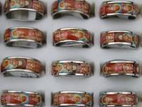 Mix size European Style Apotropaic jesus male women's titanium ring fashion  36 pieces/set Wholesale