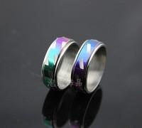 Free Shipping Multicolour wavingness dot rotation male titanium ring 50 pieces/set  Wholesale