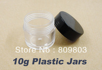 Freeshipping- 10g Clear Round Plastic Bottles Jars / Nail Art Decorative Storage 50pieces / lot