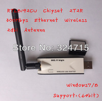10pcs USB RTL8192 300Mbps 300M WiFi wireless adapter USB 11N 300Mbps Wireless LAN Adapter  with External Attenna Free Shipping
