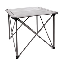 Walken square aluminum folding tables and chairs outdoor folding portable tables multiplayer chess with barbecue