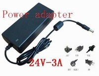 DC 24V 3A Switching power supply ,72W LED power adapter +AC cable,1 year warranty,30pcs/lot