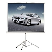 "High-quality Portable HD Tripod Projector Screen 96"" 1:1 (stronger bracket ) for home theater and school, office"