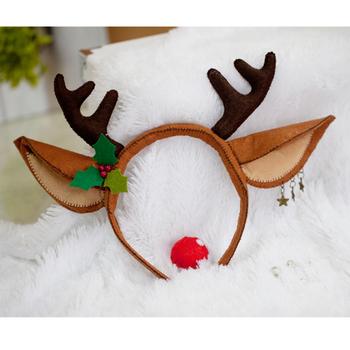 DIY Material kit diy handmade fabric christmas elk hair bands headband material kit