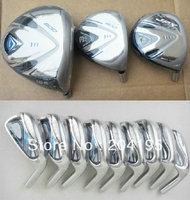 JPX 800 Golf Driver +3 wood + 5 wood graphite shaft + 9pcs Rbladez irons set steel shaft free headcover freeshiping