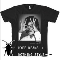 hype means nothing style of Michael Jackson T-shirt men short