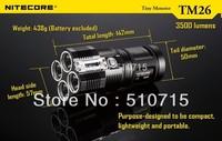 2014 New Arrival Nitecore Tm26 Xm-l U2 Led Tiny Monster 4 X Cree Xml 3500 Lumens Flashlight Rescue Search Torch Tactical M7368