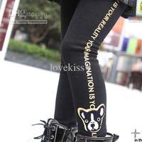 Leggings   4T-5T  Girl   Kids Clothing Baby Cute Cartoon Printed Pants Velvet Leggings Child Clothes Long Trousers Girls