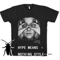 hype means nothing t-shirt style brad pitt Brad Pitt men short sleeve