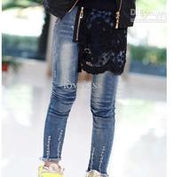 Jeans  Girl  Denim   Blue Jeans Girl Clothes Kids Trouser Jeans Trousers Children Pants Fashion Lace Princess Jeans Child Wear