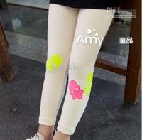 Leggings   4T-5T  Girl   Fashion Skull Pattern Leggings Child Clothing Skinny Pants Long Trousers Children Leggings Tigh