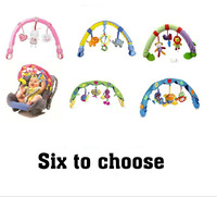 Retail New 2013 Baby soft developmental music toys Colorful musical toys clip on Baby Stroller or car arch with soft hanging