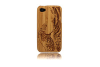 Billow Pattern Wooden Case For Iphone 4/4S