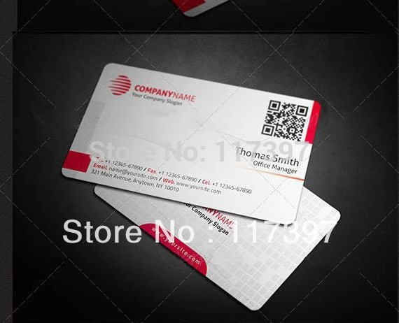 Customized business Vip Card with Quick Response Code and custom logo 500 pcs/lot(China (Mainland))