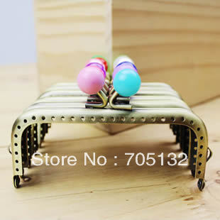 10.5cm 20pcs Cute 2 colors kiss clasp antique brass sewing metal bag frame purse parts handle for Crafts patchwork Freeshipping