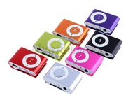Wholesale 3PCS/LOT Mini Fashoin 5 Color Clip Metal USB TF MP3 Music Media Player + USB Cable With Earphone 10655